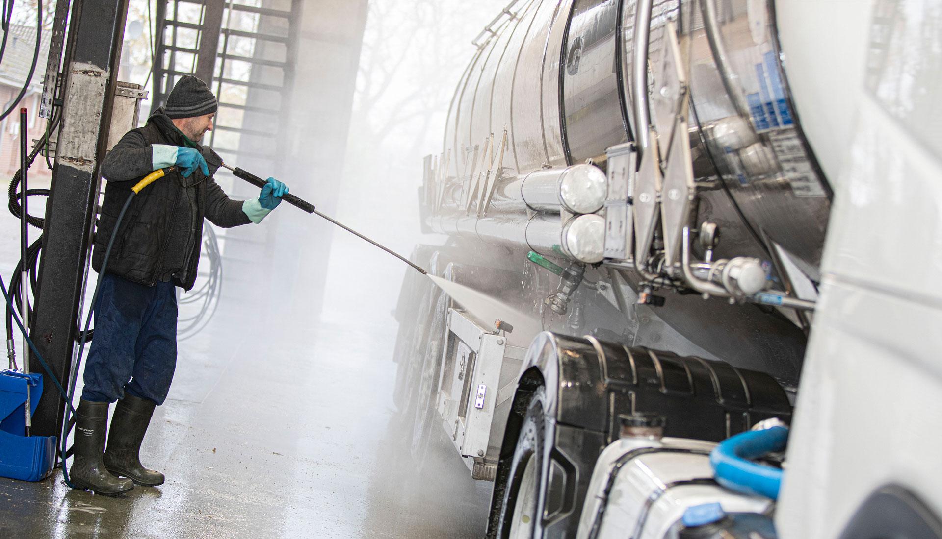 Truckwäsche Hochdruckreinigung