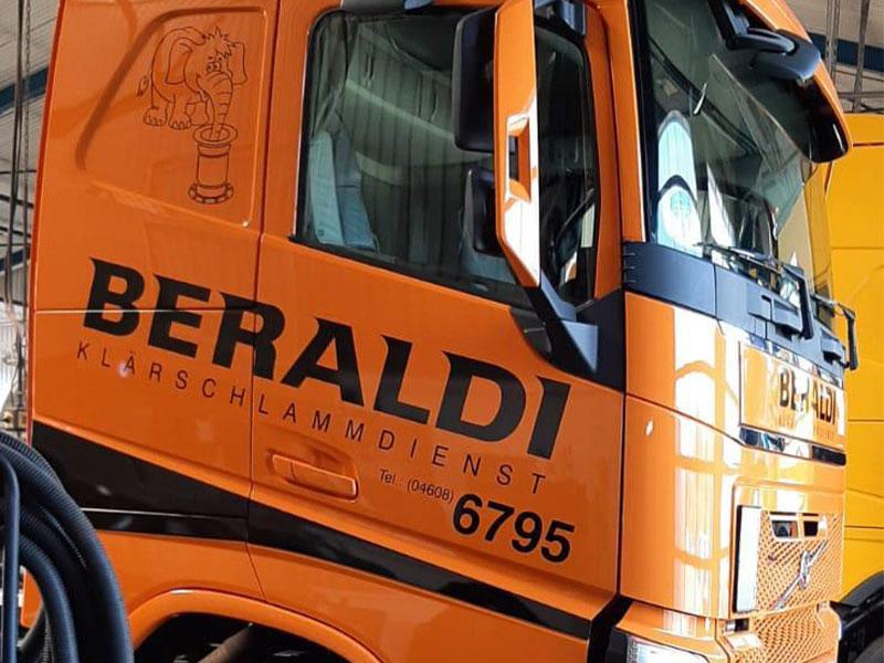 Beschriftung der Firma Beraldi