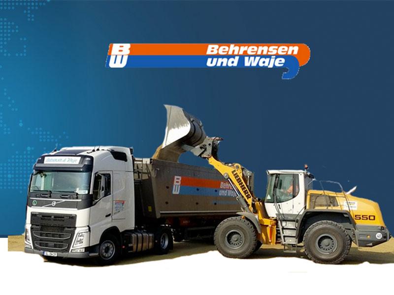 Truck und Kipplader von Behrensen und Waje